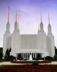 Front view of the DC LDS Temple