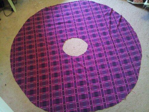 seamless plaid circle skirt