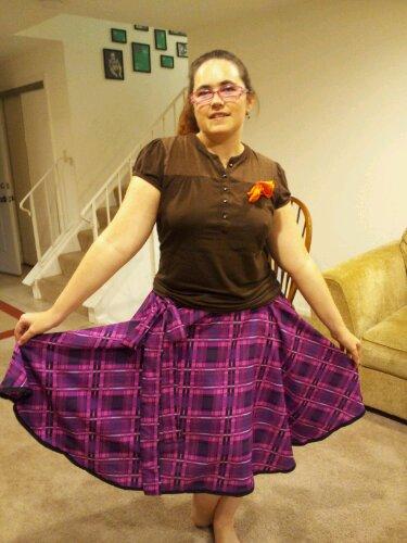 Tra la la me in the plaid skirt