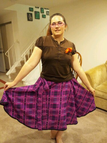 Tra la la me in the plaid skirt
