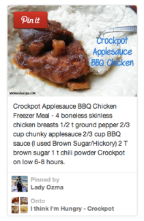 Crockpot Applesauce BBQ Chicken