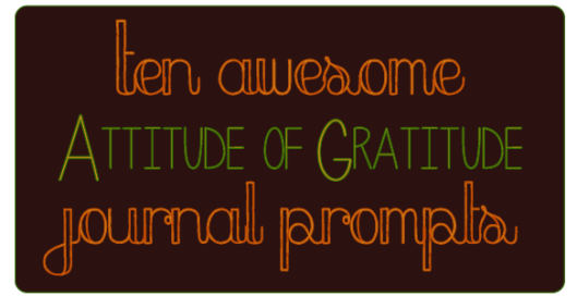 10 thankful prompts